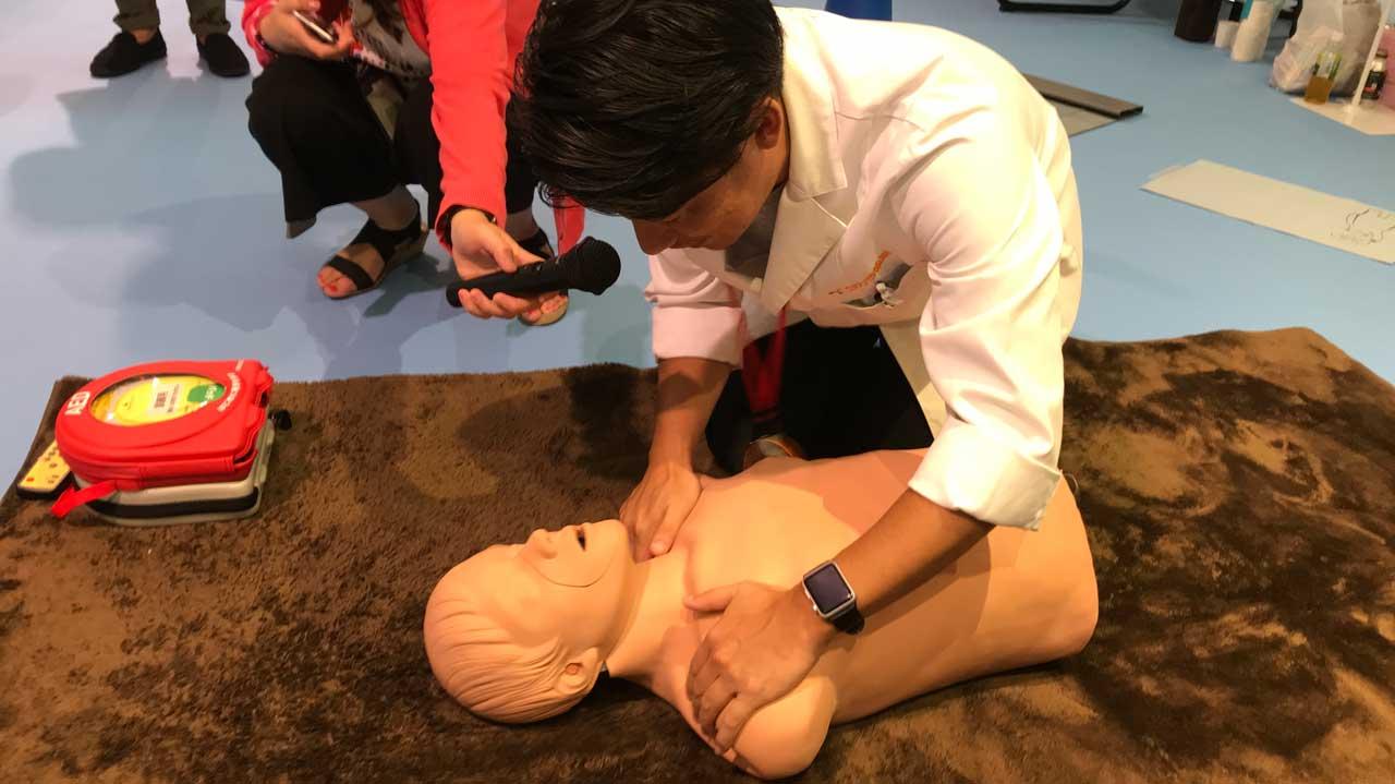 救急の日☆健康チェックイベントのAED体験に参加させて頂いてきました。